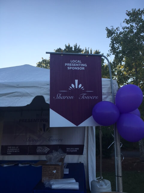 Sharon Towers 2016 Walk To End Alzheimers Booth